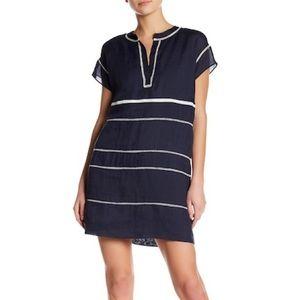 Vince Lace Inset Popover Dress Navy Blue Size 10